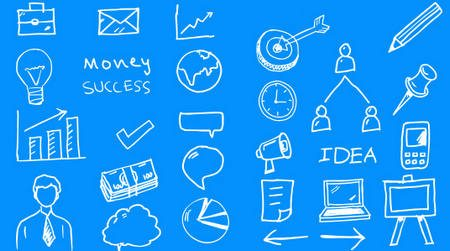 27 Business Doodles (Vector PSD)