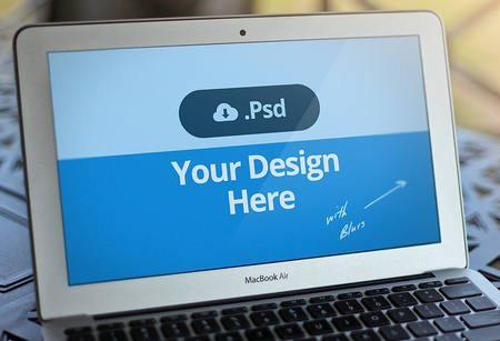 Macbook Template PSD - FREE by David Kovalev