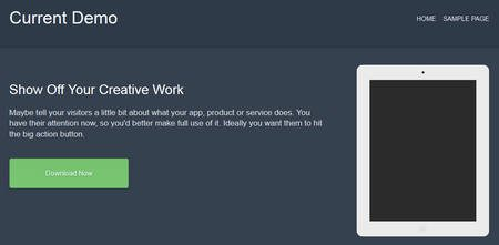 Current WordPress theme