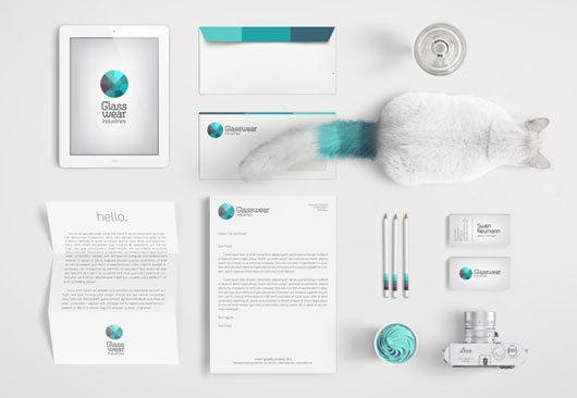 Glasswear Industries Identity by Nina Geometrieva