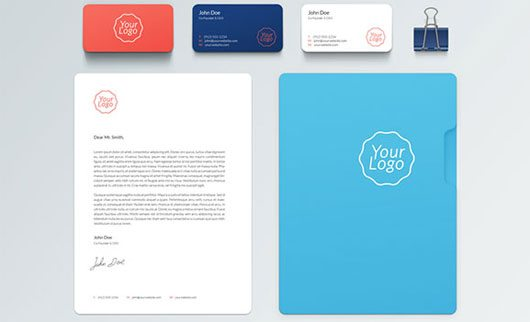 Corporate & stationary mockup PSD