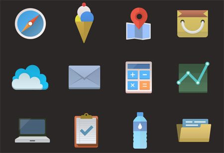 Colorful icons (PSD included) by Saeng-a-loon Chaengsavang