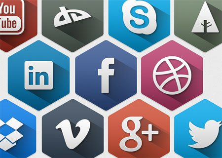 Hexagon Social Icons by Suleiman Leadbitter