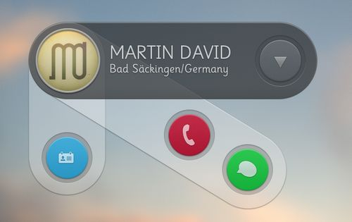Message Widget PSD by Martin David