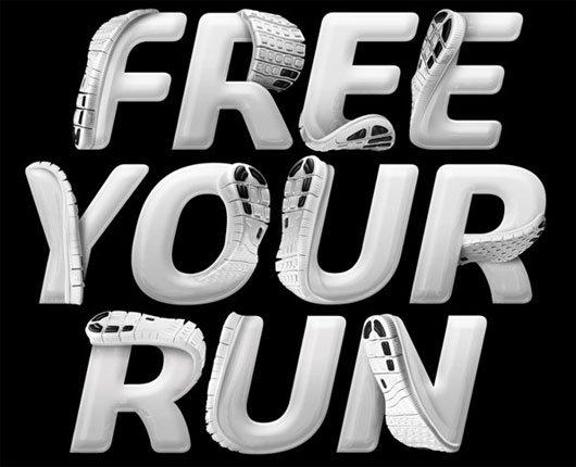 Nike – Free 5.0 Lettering by Luke Lucas