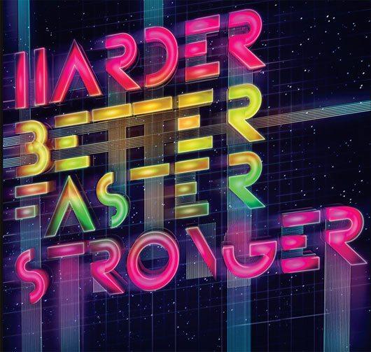 Daft Punk - Typography Poster by Petar Pavlov