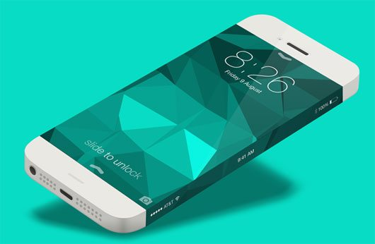 iPhone 6 Infinity Side Status Bar by Charles Treece