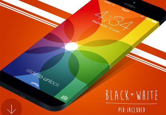 Wide iPhone Mockup (PSD) by Alex Sekachov