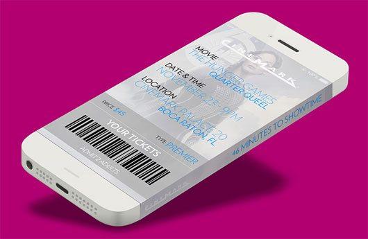 """Iphone6 Cinemark Movie Ticket App by Edwin """"Eddie"""" Diaz"""