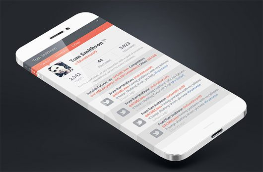 Iphone 6 infinity screen Social App by Ali Rahmoun