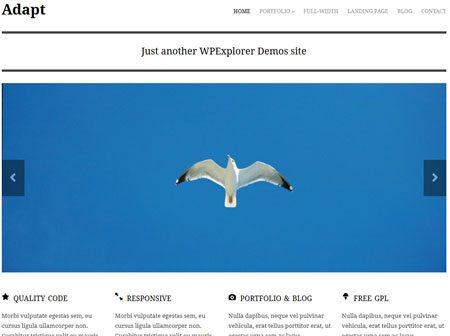 Adapt 2.0 Free Responsive Business Portfolio WordPress Theme