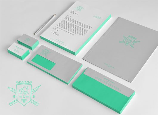 Baboon & Bottlebee Stationary Mockup by Mathias Temmen