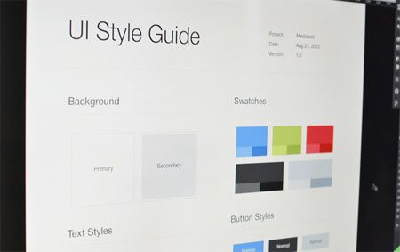 UI Style Guide Template (.psd) by MediaLoot