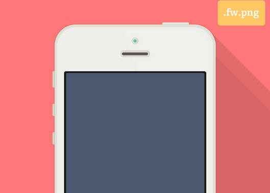 Flat iPhone 5 Adobe Fireworks Template by Jaime de Ascanio