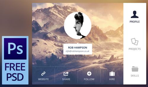 Free PSD - User Details by Rob Hampson