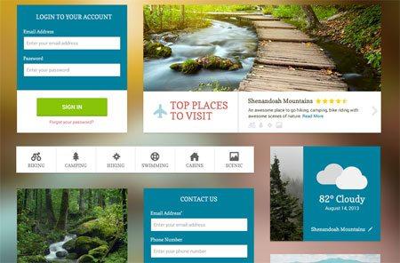UI Kit – Free PSD by Rebecca Machamer