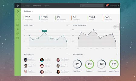 Dashboard PSD by Aaron Sananes