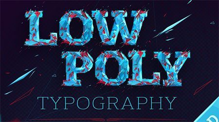 Low poly typography cover by Moek