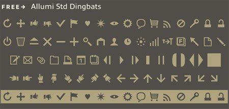 Allumi Free Dingbats by Jean François Porchez