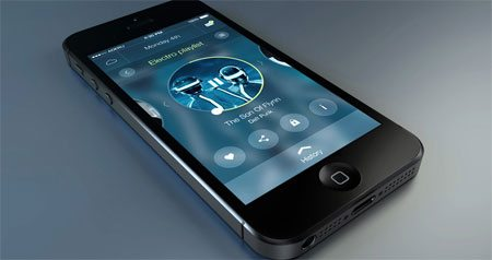 Circular player - App FREE PSD by Alex Deruette