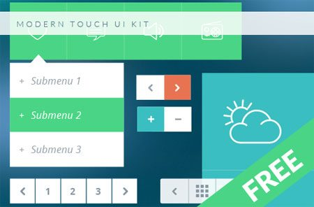 Modern Touch User Interface Kit