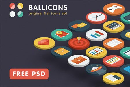 Ballicons — original flat icons set by Gimpo Studio (Nick & Oksana)