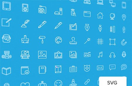 100 Free Vector Icons by Vincent Le Moign