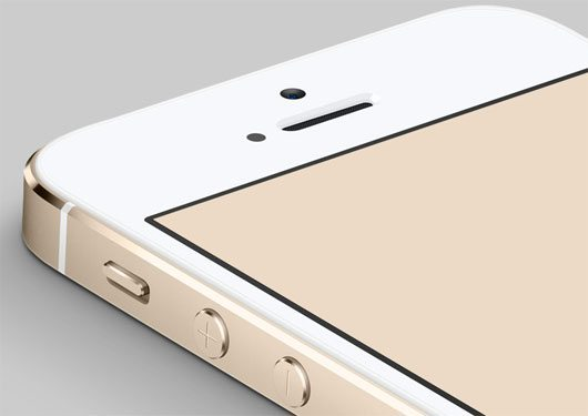 Gold iPhone 5S PSD by Ryan Ford