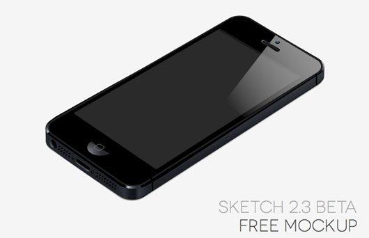 iPhone 5 [Sketch App, Beta 2.3] by Mirko Santangelo