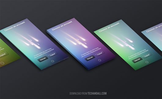 PSD for Perspective Screen MockUp Vol. 3