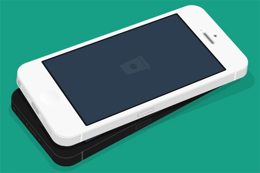 Flat iPhone 5 3D MockUp by Paul