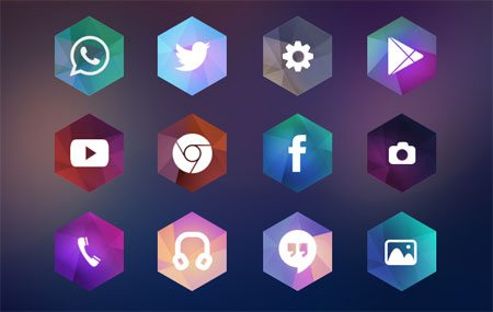 Hexagon Android Icon Theme by Kadir
