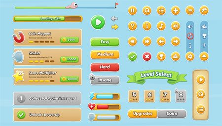 Mobile Game GUI by Raul Taciu