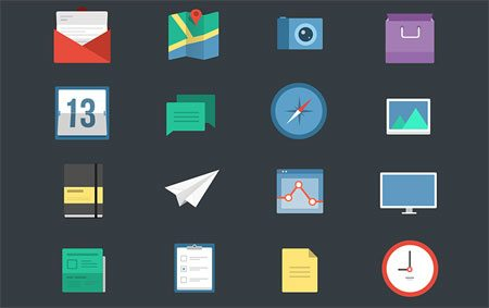 16 Flat Icons by Boyan Kostov