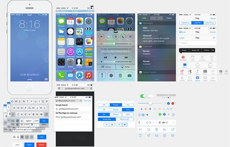 iOS7 Ui Kit by 绵羊 GUI
