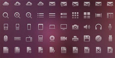 120 vector glyph icons