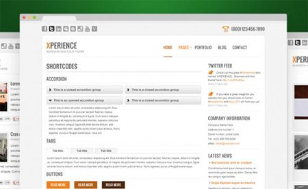 Xperience WordPress Website Interior Pages