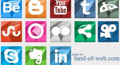 Vibrant Polygonal Social Media Icons vol.2 preview