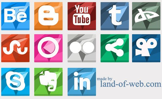Vibrant Polygonal Social Media Icons vol.2 preview