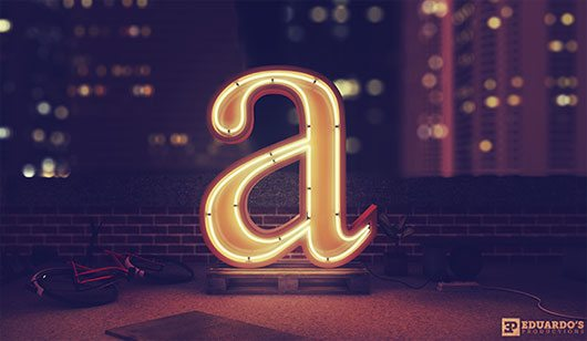 Type Lighted by Eduardo Hurtado