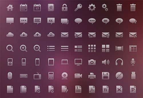 120 Vector Glyph Icons by Ivo Ivanov