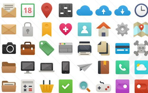 It's Flat! 48 Free Vector Icons