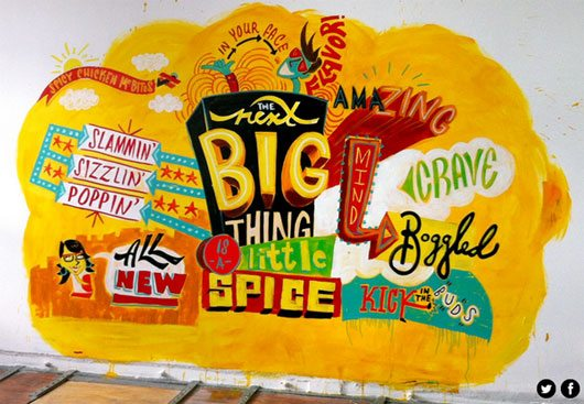 McDonald's mural by Jeff Rogers