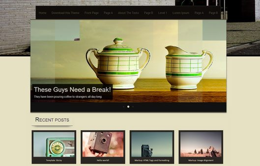 """Sixteen"" WordPress Theme"