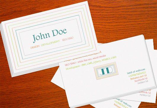 Clean Minimal Business Card PSD Template 2