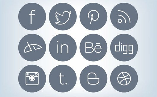 Sleek Social Media Icons by Zee Que