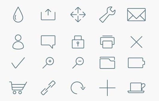 Stylized Minimalist Icon Collection