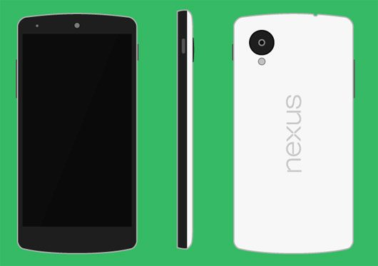 Nexus 5 Vector (.Ai) by Nick Chamberlin