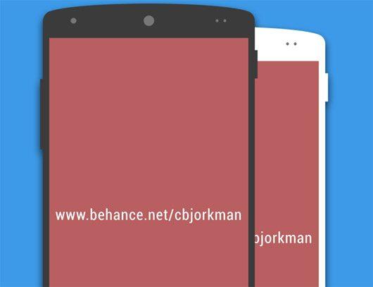 Nexus 5 Flat Mockup by Christian Björkman