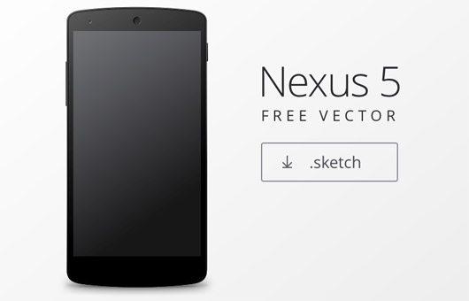 Nexus 5 Mockup by Johannes Edelstam